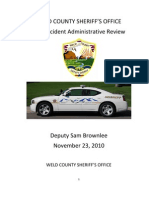 Weld County After Action Report About the Death of Deputy Sam Brownlee