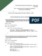 Lista1POO Exercícios de Programação Orientada a Objetos – JAVA
