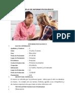 EJEMPLO DE INFORME PSICOLÓGICO