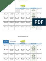 Calendario CURSO ENURM Acelerado 2020-2021 - (Oct - Feb)