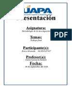Trabajo Final de Metodologia ERICA.