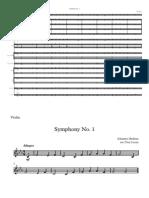 Symphony No 1 - score and parts