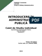Introducere in administratia publica - an I, sem I - mina simona