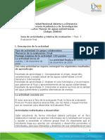 Guia de actividades y Rúbrica de evaluación - Unidad 1, 2 y 3 - Fase 5 - Evaluación final