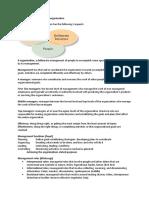 英国留学 罗宾斯管理学-第14版讲义全集英文版 SummarySummary_management_and_organisation_(Autosaved)_(1)