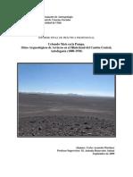Cebando Mate en la Pampa. Sitios Arqueológicos de Arrieros en el Hinterland del Cantón Central, Antofagasta (1880-1930)