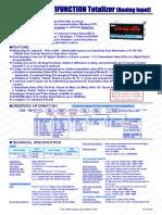 ADTEK Flow Totalizer Indicator
