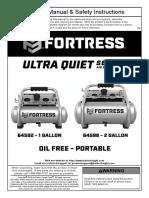 fortress air compressor user manual