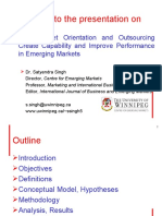 How Market Orientation & Outsourcing create capability