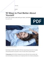 10 Ways to Feel Better About Yourself _ Psychology Today