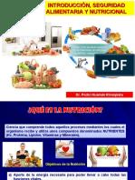 1 PRIMERA CLASE  Introducción, Seguridad Alimentaria y Nutricional