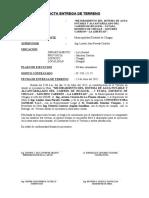 ACTA ENTREGA DE TERRENO AGUA HUAGUIL- I ETAPA