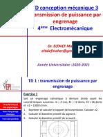 TD1 Conception Mécanique 3 AU2020-2021 Version Etu