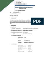 AMPLIACIÒN DE VESTUARIOS - CONTRATISTAS