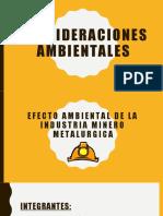 EFECTO AMBIENTAL DE LA INDUSTRIA MINERO METALURGICA