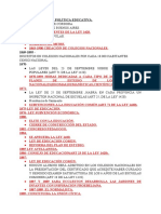 LINEA DE TIEMPO POLITICA EDUCATIVA