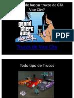 Como conseguir trucos para GTA Vice City