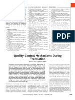 Quality Control Mechanisms During Translation