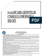 PLANIFICAREA SEDINTELOR CP 2020-2021