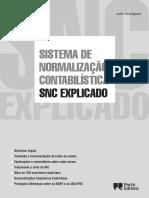Xplicado Sistema de Normalização Contabilística Snc Explicado. João Rodrigues