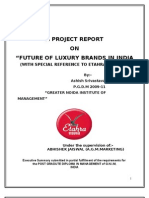 FUTURE OF LUXURY BRANDS IN INDIA