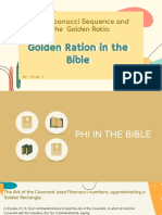 Golden Ratio in the Bible - MATH