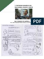 Folleto 1. VIDA Y TESTIMONIO EVANGÈLICO DE  Mns. Romero