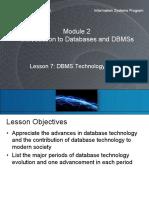7 DBMS technology evolution