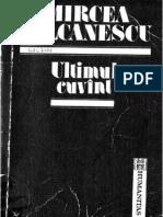 Mircea Vulcanescu - Ultimul cuvint #1.0~5.doc