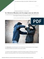 La violencia se disemina entre los amigos como una infección - Scientific American - Español
