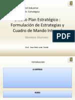 FORMATO  PRESENTACION  PLAN  ESTRATEGICO