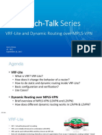 VRF-Lite and Dynamic Routing over MPLS-VPN