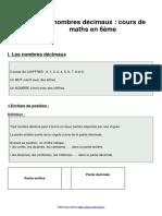Leçon 2 les-nombres-decimaux-cours-de-maths-en-6eme