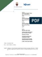 Nota Del Presidente Di Chiusura Comuni Castello Tesino, Bedollo, Baselga Di Pinè Prot 726530 Dd 14-11-2020 Con Allegato