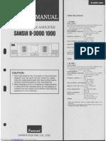 Sansui B-1000 service manual