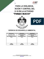 Plan para la Vigilancia, Prevención y Control del COVID-19 (Parque Bejuco)
