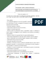 Ficha de trabalho nº1 saberes