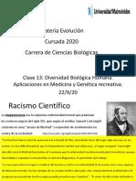 Clase 13 Aplicaciones en Biomedicna y Genética Recreativa.
