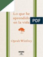 Lo que he aprendido en la vida- Oprah Winfrey-holaebook