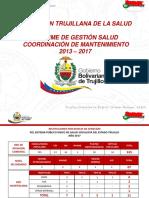GESTION DE SALUD AÑOS DEL 2013 - 2017