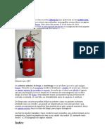 trabajo de extintores