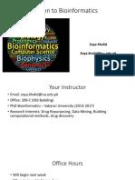 Lec1-Introduction to Bioinformatics