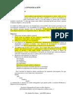 5. Formulación de objetivos II - Investigación