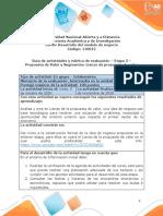 Guía de actividades y Rúbrica de evaluación - Etapa 3  – Propuesta de Valor y Segmentos - Lienzo de propuesta de valor