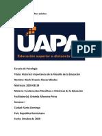 unidad I - Fundamentos Filosóficos e Históricos de la Educación