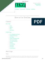 TreeLine - How to Use