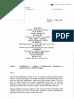 Lettre du commissaire au Budget sur les réductions de dépenses des instances européennes