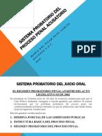 Sistema probatorio del juicio oral 2019