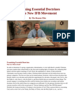 Examining Essential Doctrines of the New IFB Movement by The Reason Files