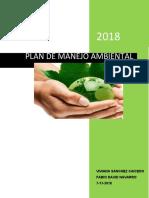 PLAN DE MANEJO AMBIENTAL - SUPER TIENDAS BAQUERO
